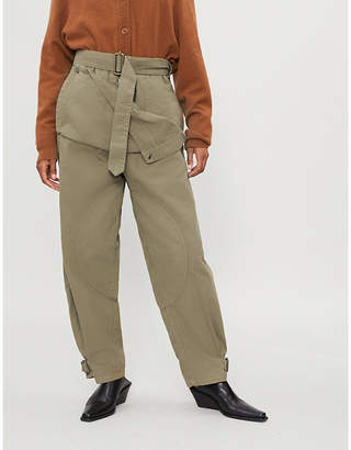 J.W.Anderson Pocket-panel straight-leg cotton-drill cargo trousers