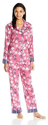 munki munki Women's Long Flannel Sleeve Classic Pj Set