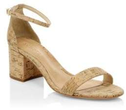 Schutz Chimes Cork Ankle-Strap Sandals