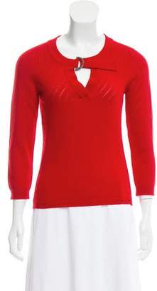 Chanel Cashmere Open Knit Sweater