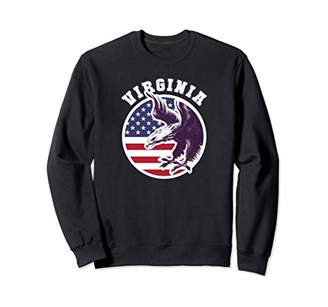 Virginia Eagle USA Flag Stars and Stripes Pullover