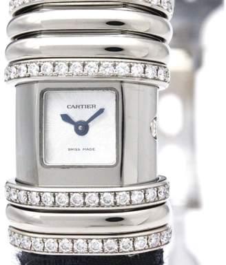 Cartier Declaration WT000450 Titanium / 18K White Gold Quartz 16mm Womens Watch