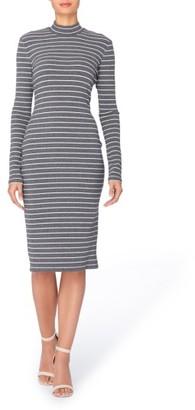 Women's Catherine Catherine Malandrino Kristiana Stripe Knit Midi Dress $98 thestylecure.com