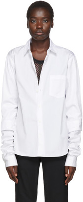 Comme des Garcons White Double Layer Shirt
