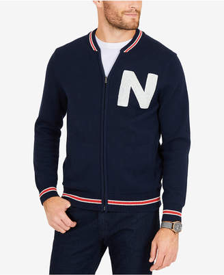 Nautica Men's Logo Baseball Jacket