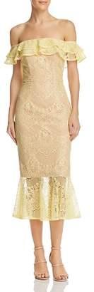 Jarlo Toril Off-the-Shoulder Lace Dress