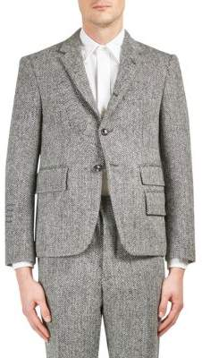 Thom Browne Slim Fit Herringbone Wool Jacket