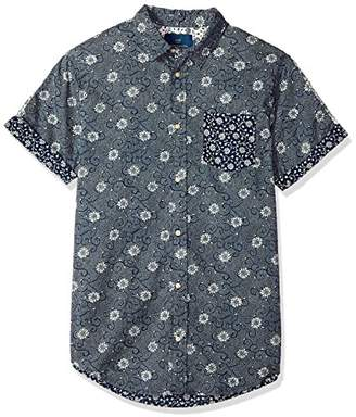 Scotch & Soda Men's Shortsleeve Shirt with Mix and Match Prints