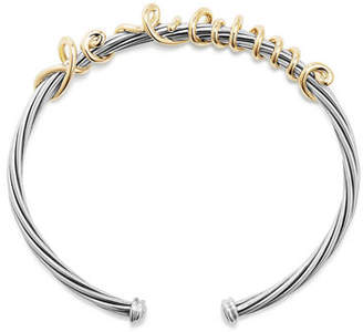 David Yurman Je T'aime Wire Message Bracelet