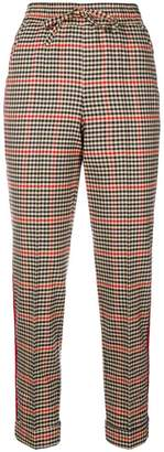 P.A.R.O.S.H. slim-fit check trousers