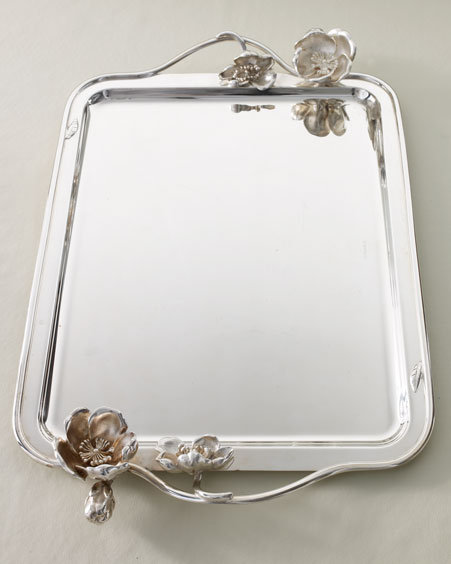 Christofle Anemone Large Rectangular Tray