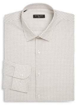 Saks Fifth Avenue MODERN Slim-Fit Geometric-Print Woven Dress Shirt