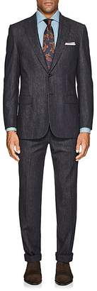 Brioni Men's Denim-Effect Wool-Cashmere Two-Button Suit