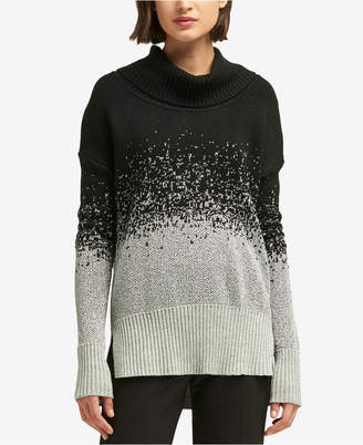 DKNY Two-Tone Turtleneck Sweater