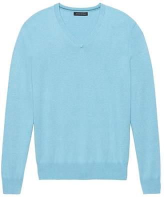 Banana Republic Silk Cotton Cashmere V-Neck Sweater