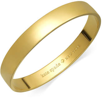 Kate Spade Bracelet, 12k Gold-Plated Idiom Bangle Bracelet