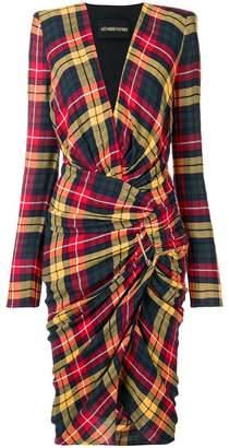 Alexandre Vauthier checked print dress