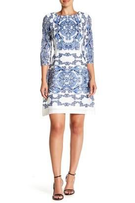 Gabby Skye Burnout Lace Sheath Dress