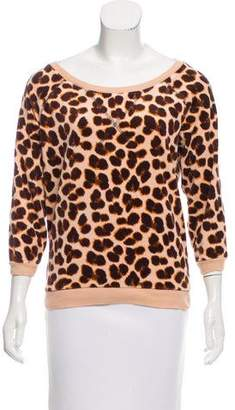 Marc by Marc Jacobs Cheetah Print Velour Sweatshirt