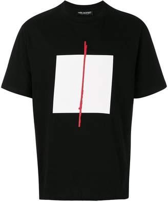 Neil Barrett box print T-shirt