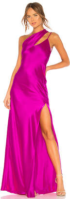 Michelle Mason One Shoulder Gown