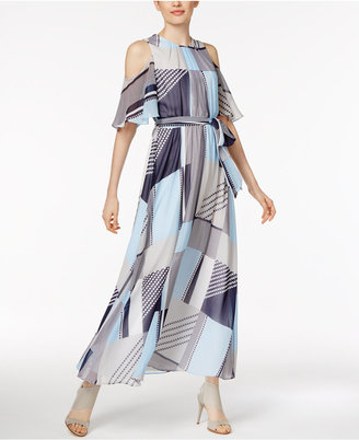Calvin Klein Printed Off-The-Shoulder Maxi Dress $149.50 thestylecure.com