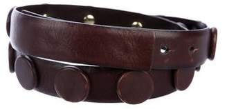 Tory Burch Embellished Leather Belt
