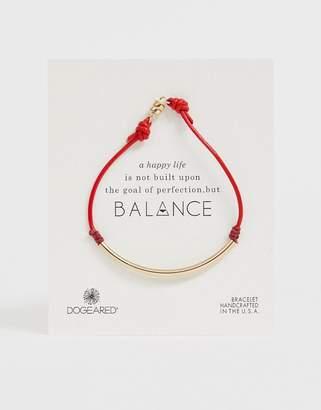 Dogeared balance tube pebble leather bracelet