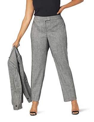 Anne Klein Women's Size Plus Twill Slim Pant