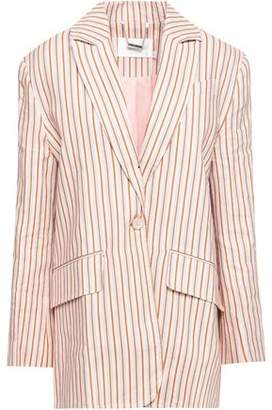 Zimmermann Painted Heart Printed Linen Blazer