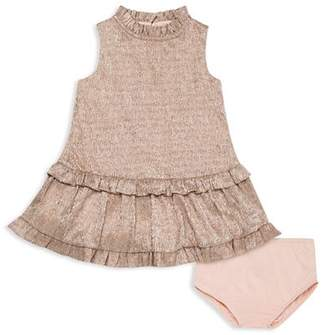 Kate Spade Girls' Metallic Ruffle Dress - Baby