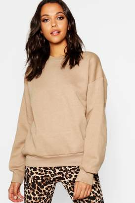 boohoo Oversized Basic Crew Neck