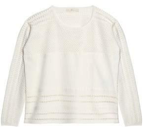 Maje Pointelle-Knit Sweater