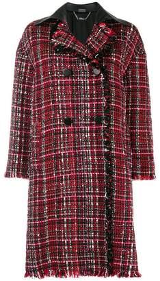 Alexander McQueen double breasted tweed coat