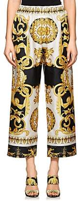 Versace Women's Baroque-Print Crop Pants - Gold