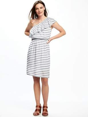One-Shoulder Swing Dress for Women $34.94 thestylecure.com