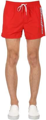 DSQUARED2 Underwear Logo Printed Nylon Swim Shorts