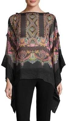 Etro Silk Drape Top