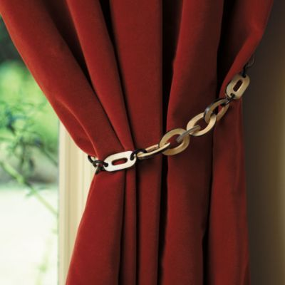 Horn Curtain Chain Tieback