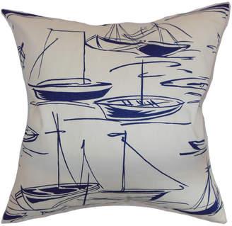 The Pillow Collection Sailboat Decorative Pillow