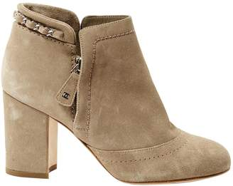Chanel Beige Suede Ankle boots