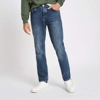 River Island Mens Mid blue Bobby standard jeans