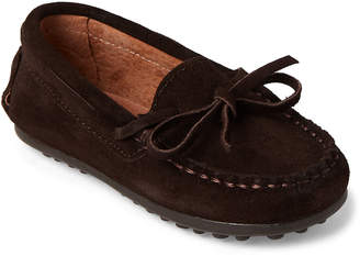 Childrenchic (Toddler/Kids Boys) Chocolate Suede Driving Moccasins
