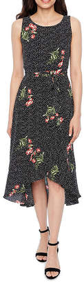 Studio 1 Sleeveless Floral A-Line Dress-Petite