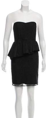 Alice + Olivia Lace Strapless Dress