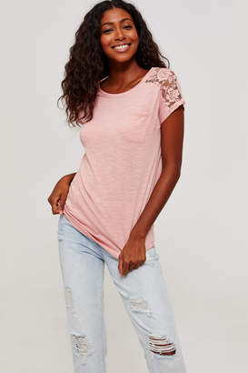 Ardene Lace Back Tee