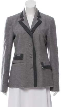Ermanno Scervino Notched-Lapel Button-Up Blazer