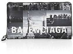 Balenciaga Women's Everyday New York Skyline Zip-Around Continental Leather Wallet