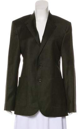 Balenciaga Wool Notch-Lapel Blazer
