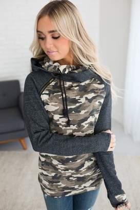 Ampersand Avenue *Exclusive DoubleHood Sweatshirt - Camo Accent